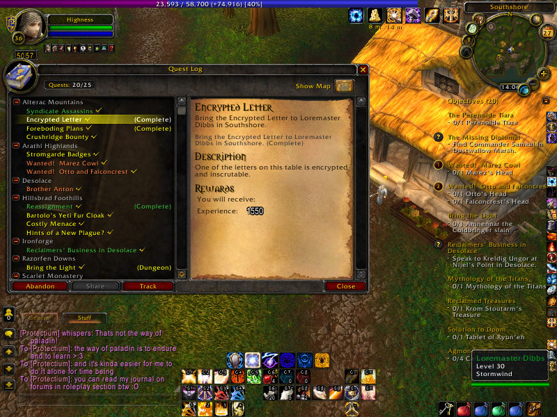 Wow classic paladin quest