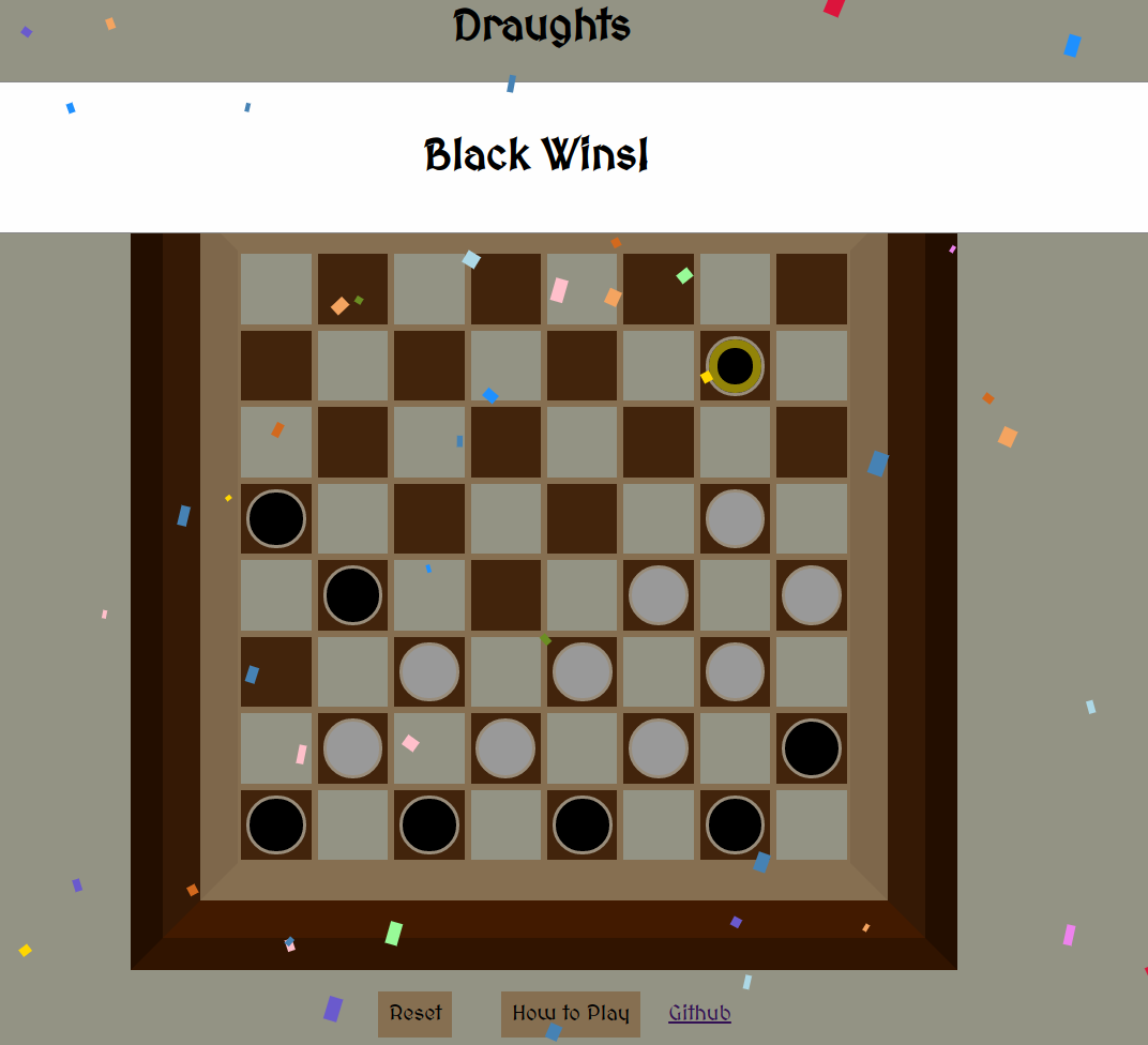 Checkers Win Layout