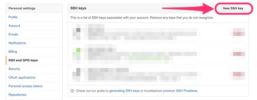 New SHH key
