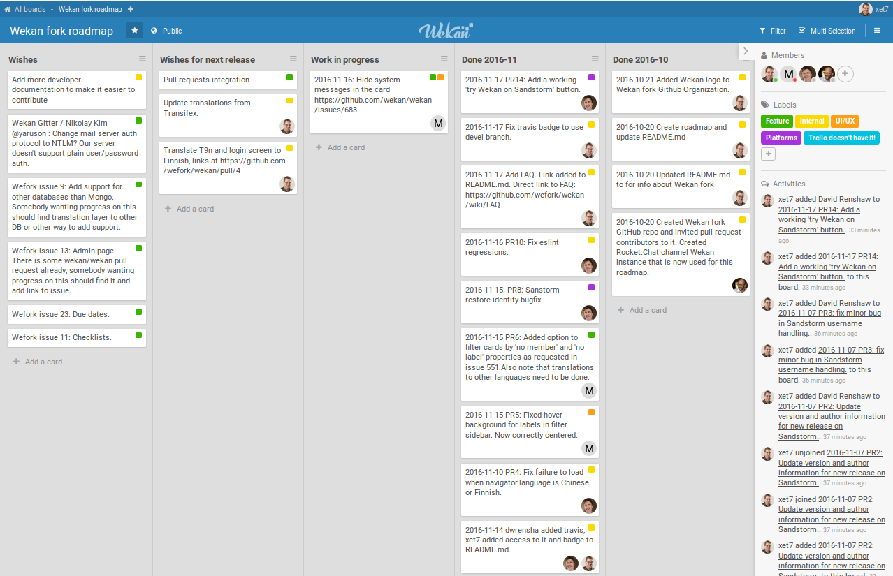 Screenshot of Wefork