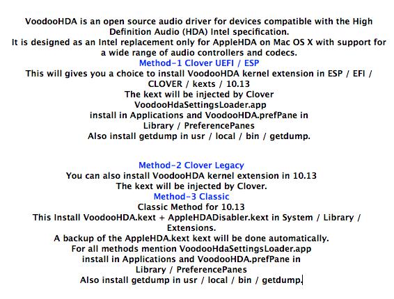 VoodooHDA-macOS-High-Sierra - 커스텀맥(해킨) 파일 자료실