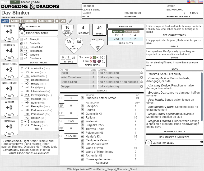 how to give character sheets on roll20