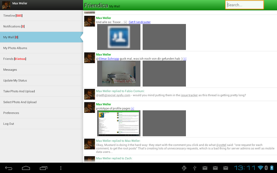 Screenshot on tablet