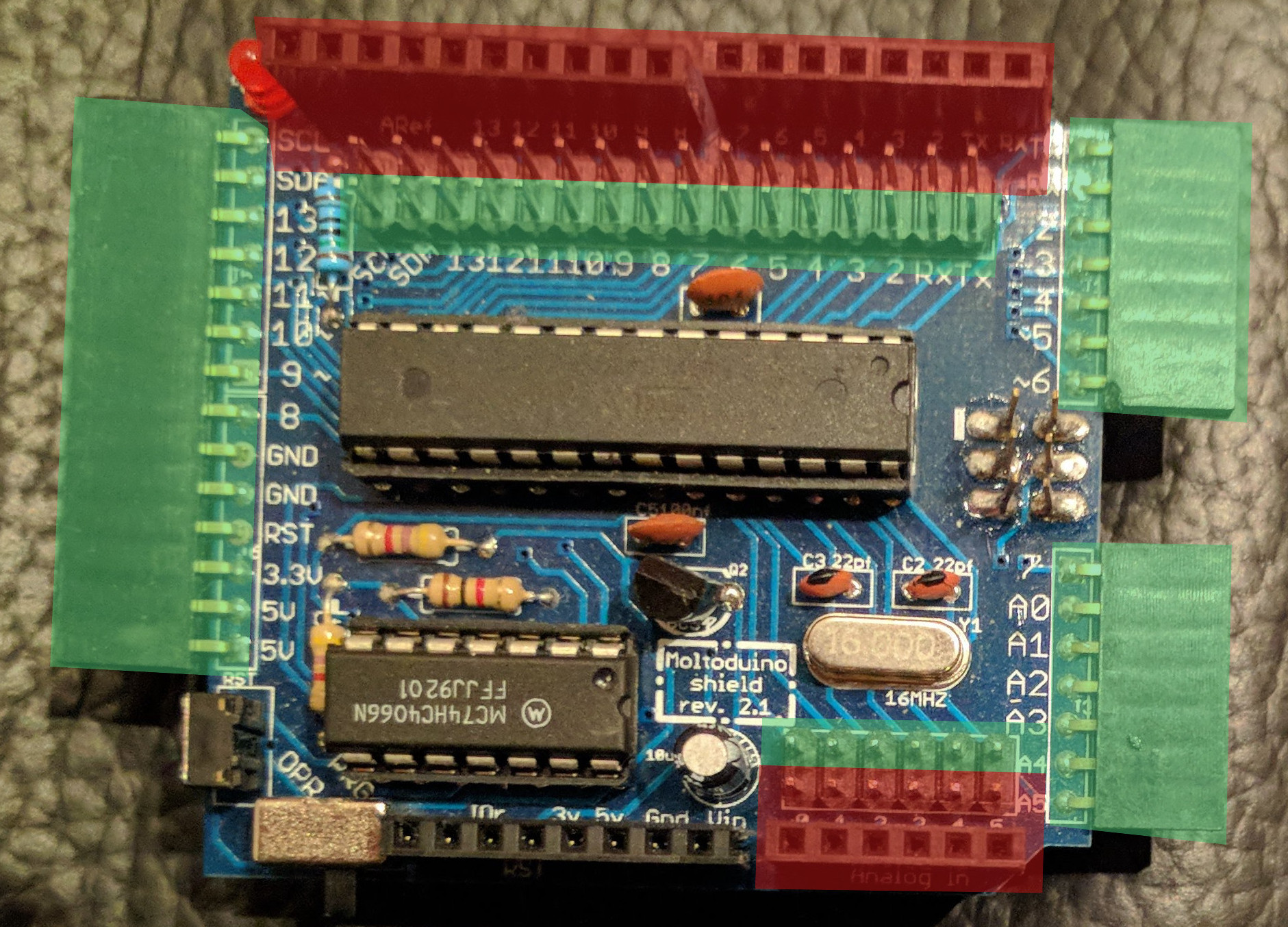 Moltoduino pin grouping