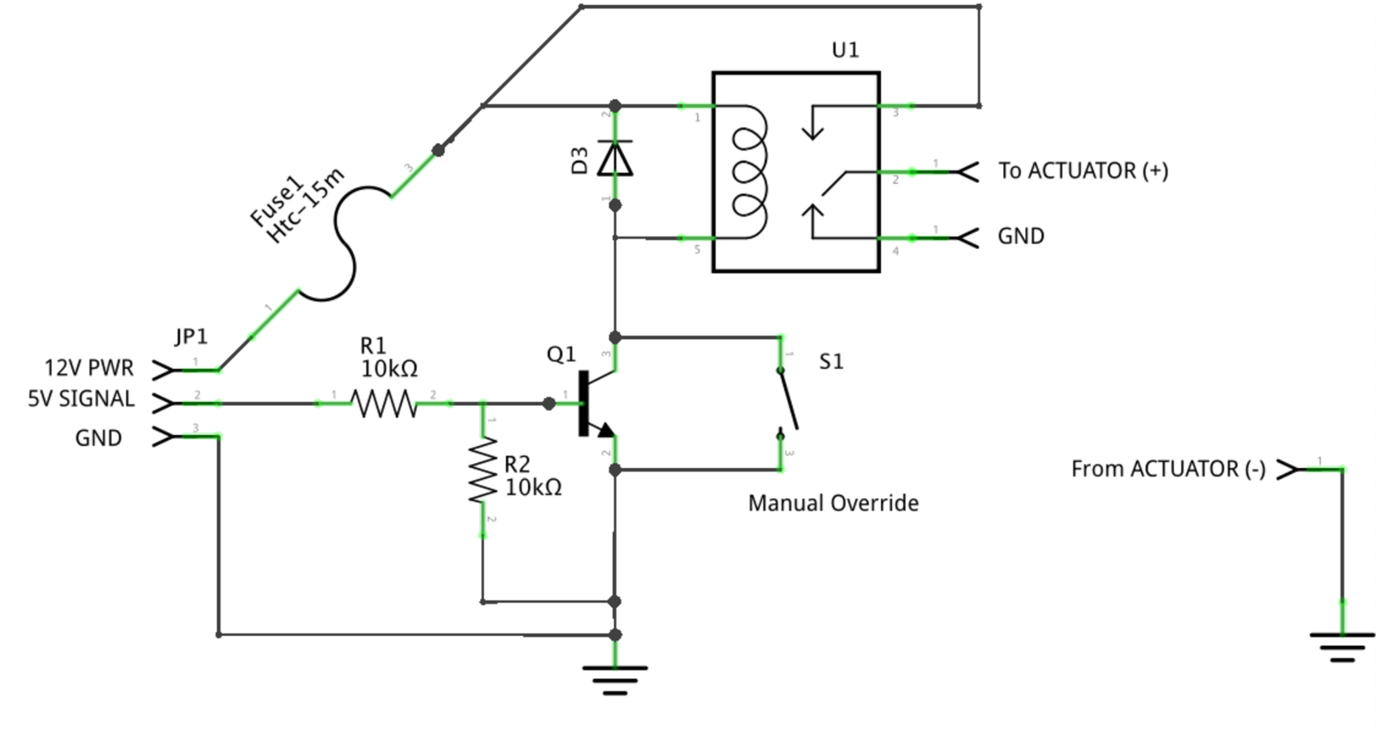 Tutorial Setting Up A Valve Controller Open Storm Docsopen Wiring Diagram As Well Npn Transistor Switch Circuit 9 Where To Add An Override Manually Control The Actuator