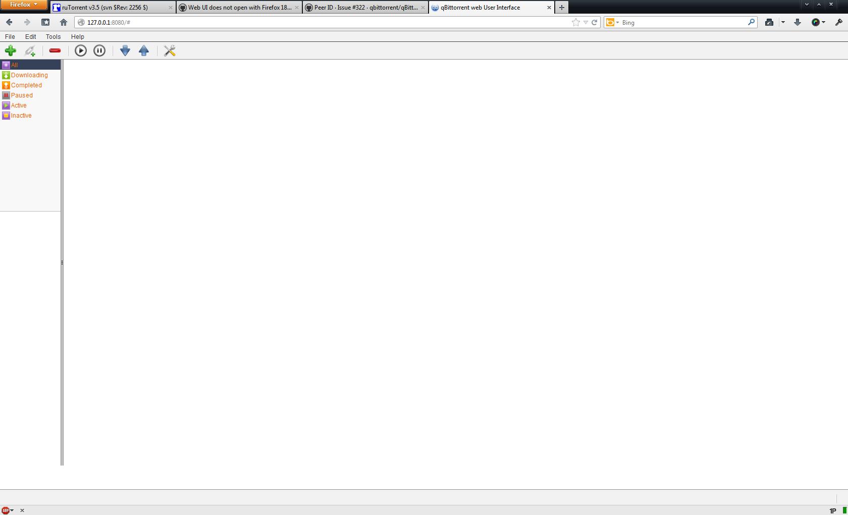 qbittorrent webui not working