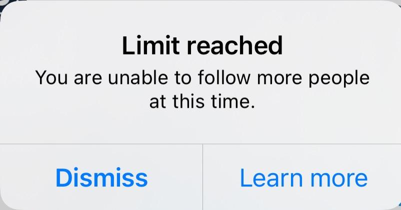 Follow Limit Notice
