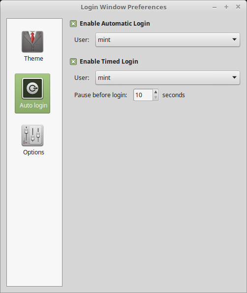 Add auto login configuration · Issue #15 · linuxmint/lightdm