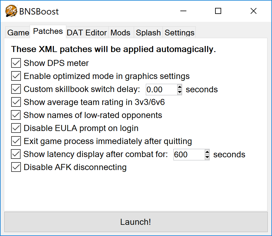 GitHub - LoadLibraryW/BNSBoost: A simple launcher for Blade & Soul