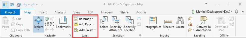 ProGuide Ribbon Tabs and Groups · Esri/arcgis-pro-sdk Wiki · GitHub