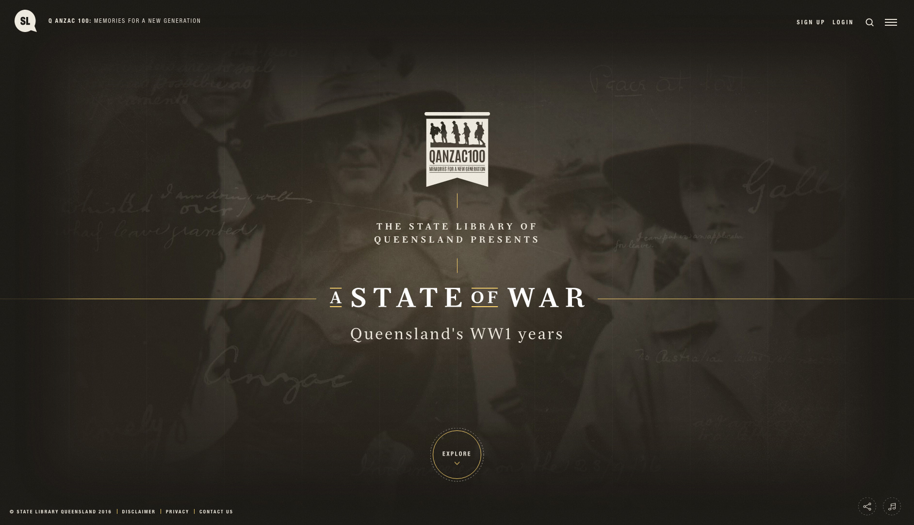 Q ANZAC 100 - A State of War