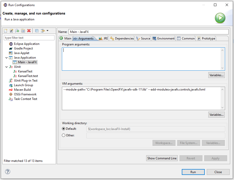 Tutorial to add JavaFX 11 to Java 11 in Eclipse · GitHub