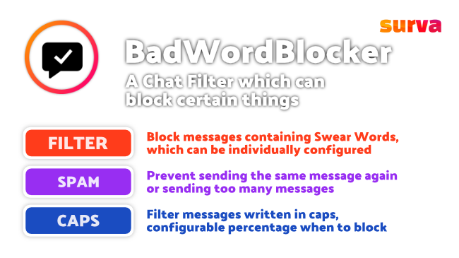 BadWordBlocker plugin features