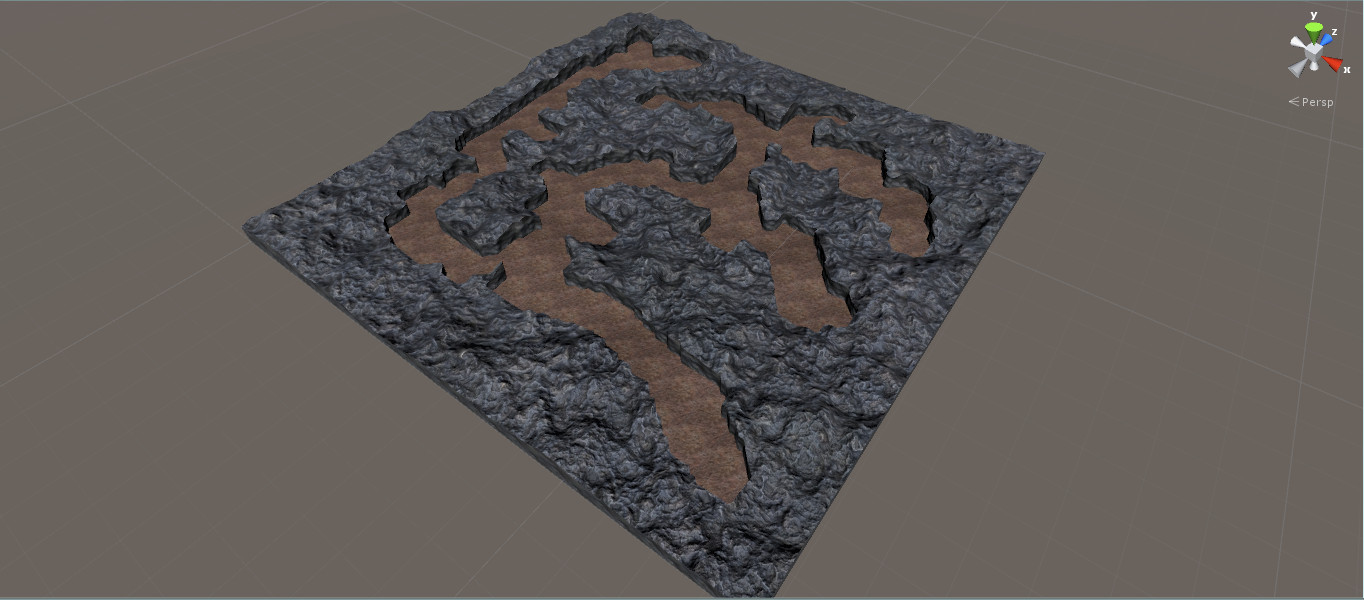3D cave with height map