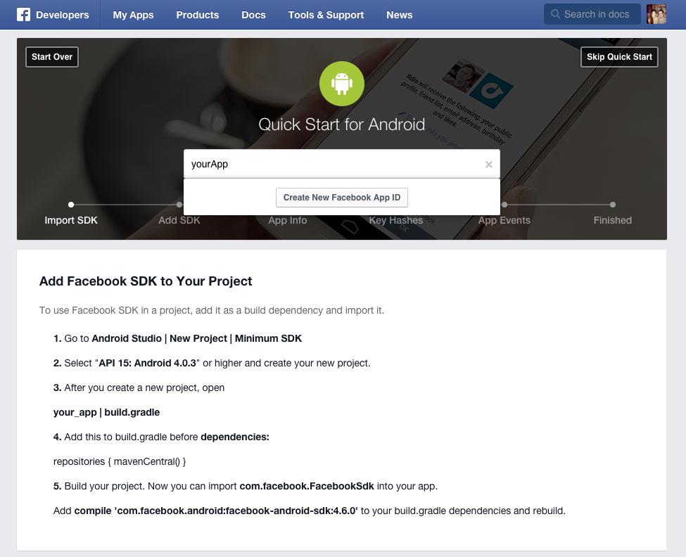 FB quickstart