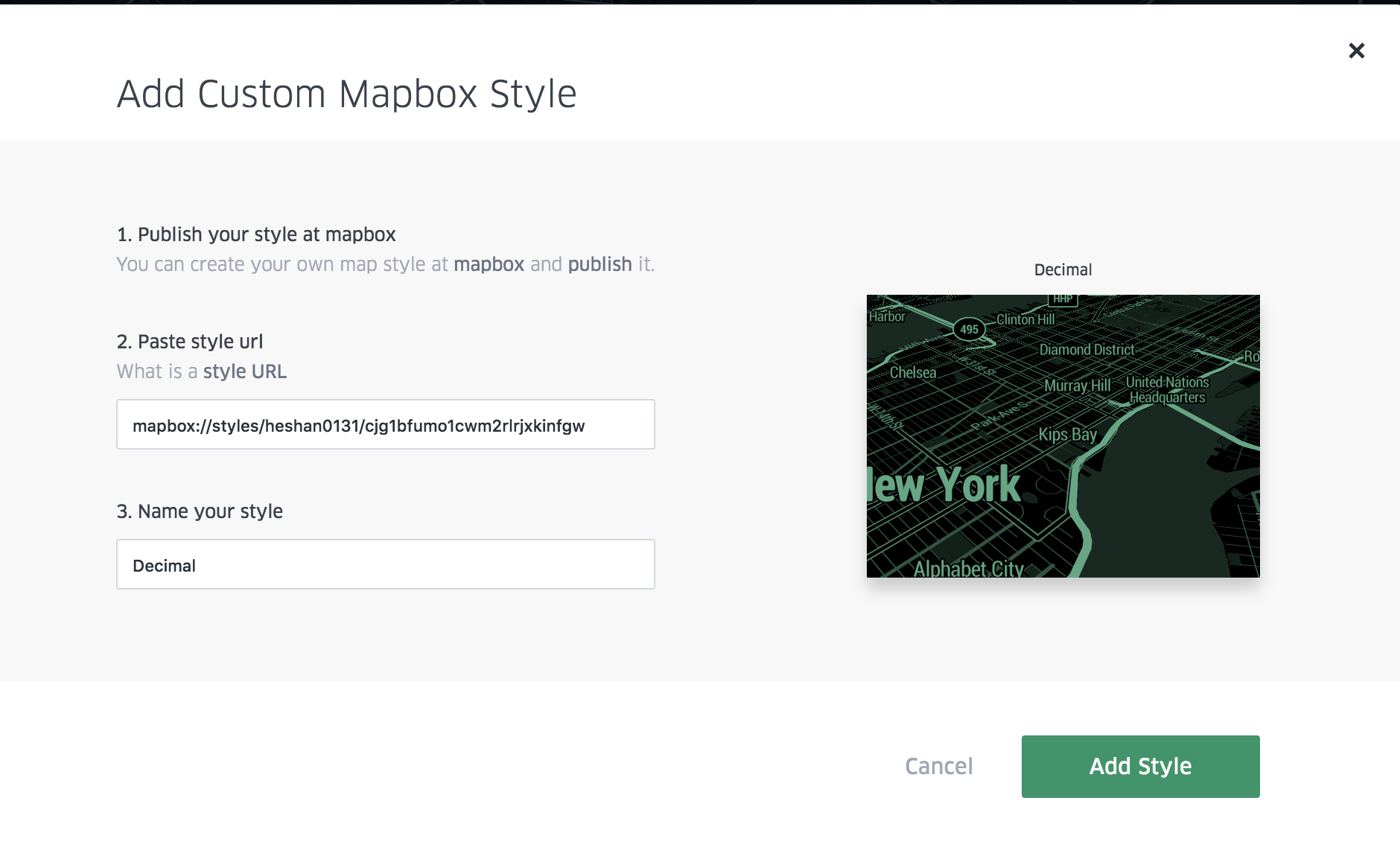 Mapbox Custom Styles