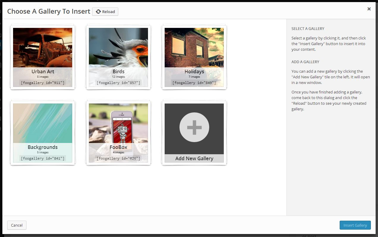 Github wp plugins foogallery plugin mirror for Nextgen template editor