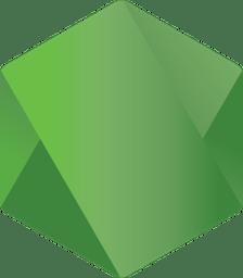 Node.js green hexagon