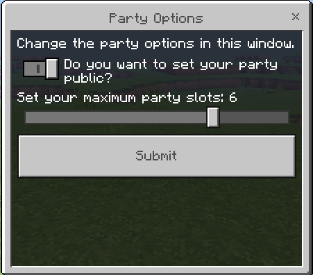 Party Options