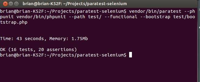 ParaTest Selenium Results