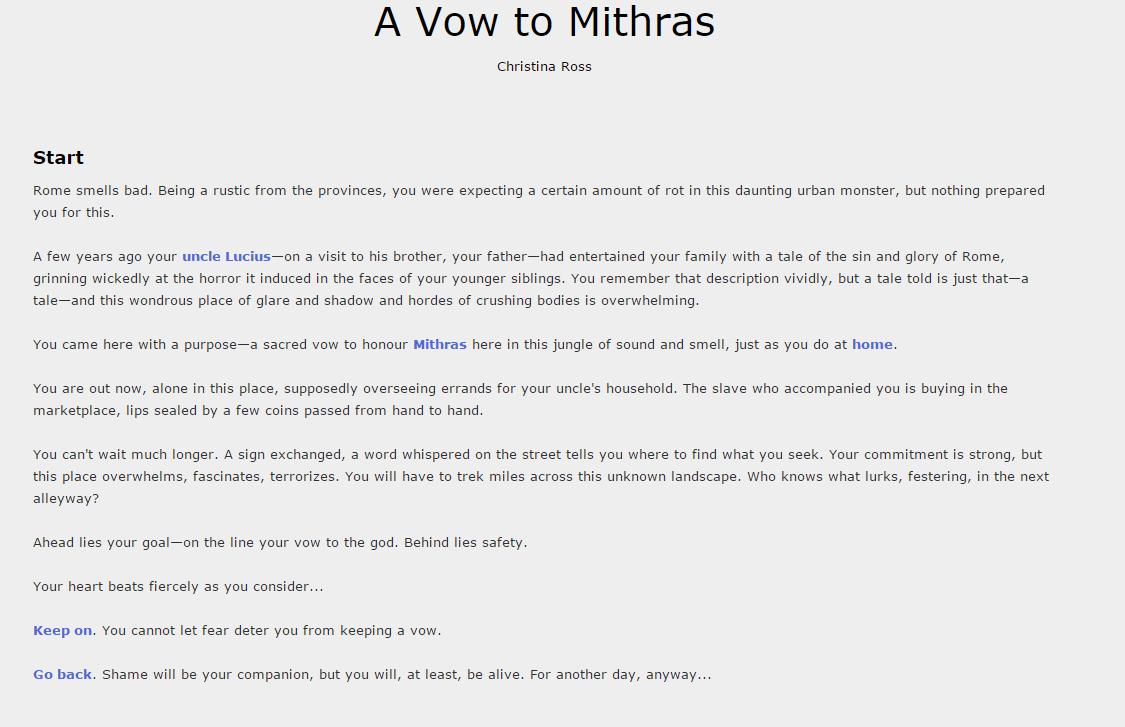 vow to mithras