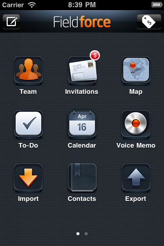 OpenSpringBoard Example, Fieldforce