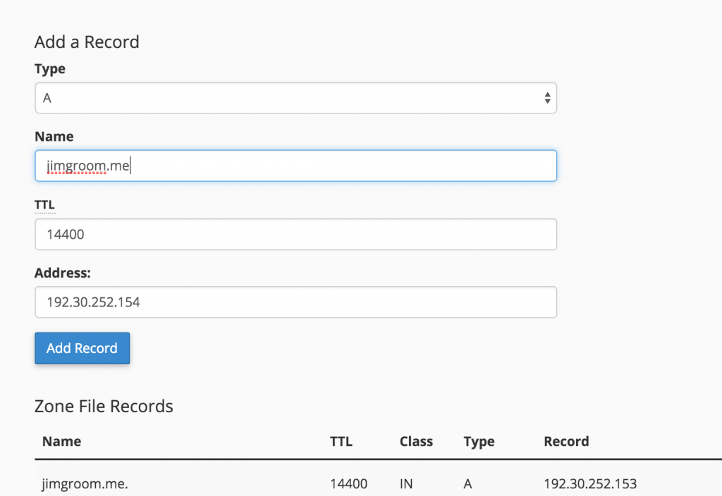 A Records