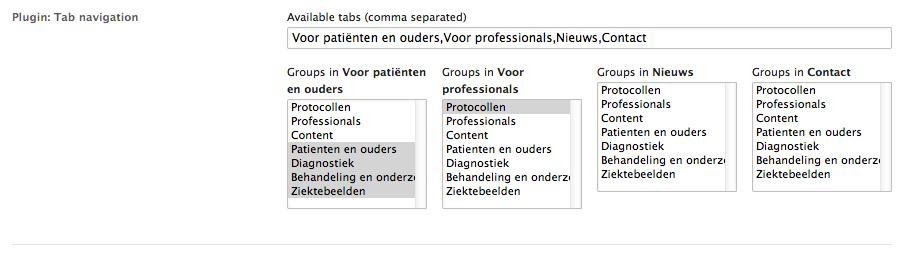 Tabnavigation preferences
