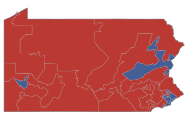 Image of the 2012 House election in Pennsylvania from NYTimes.com