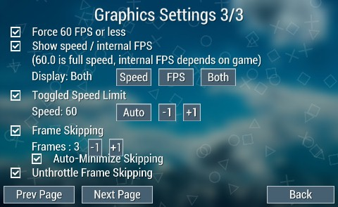 Seperate Option To Enable Disable Auto Minimize Frame Skipping Issue 3025 Hrydgard Ppsspp Github