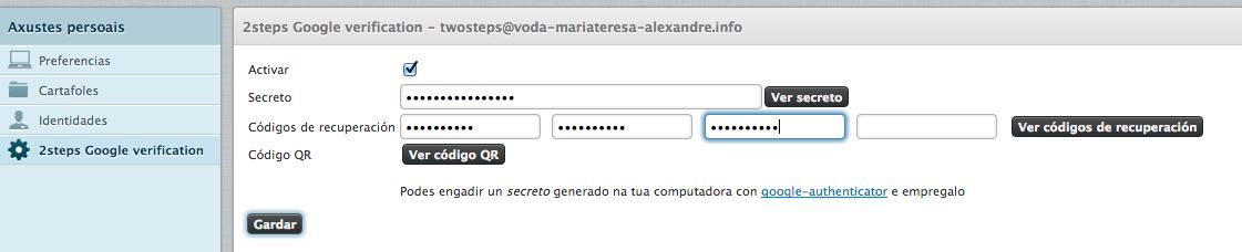 alexandregz/twofactor_gauthenticator - Roundcube Webmail Plugin
