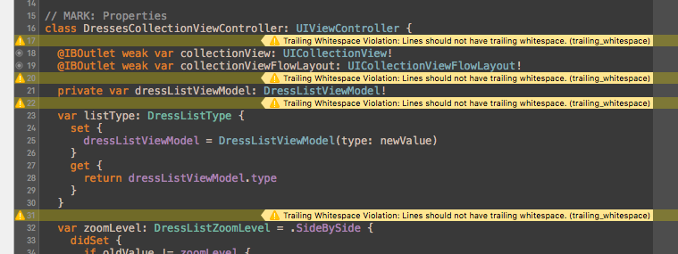 Xcode file saving inserts trailing whitespaces everywhere
