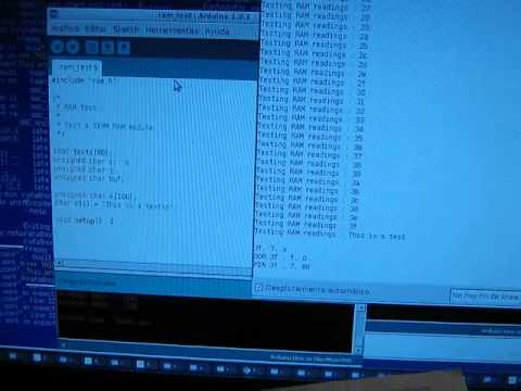 arduino interfacing with simm ram module