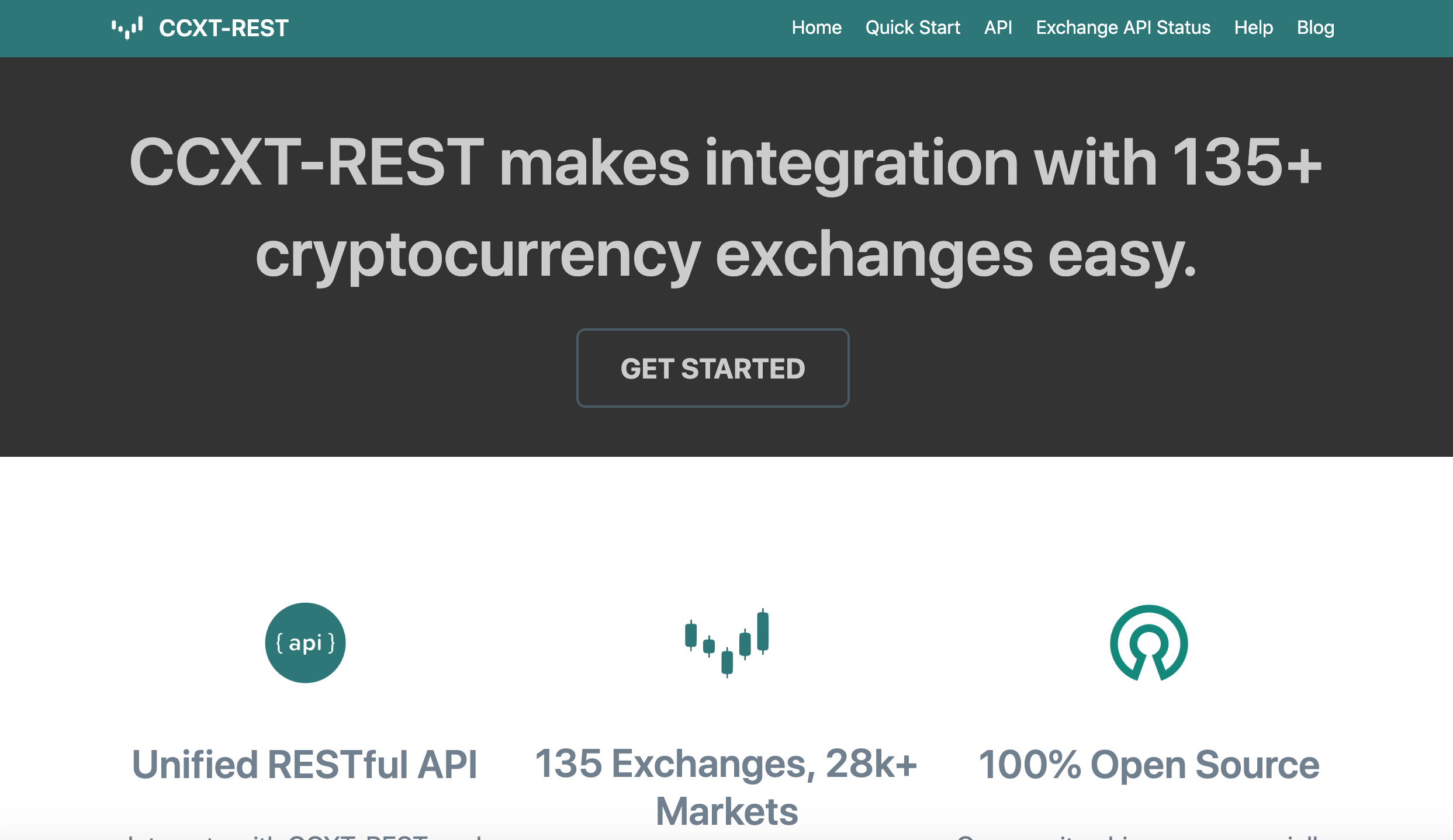 CCXT-REST API Documentation