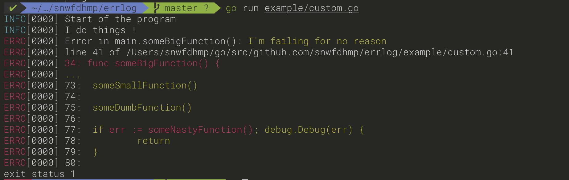 Console Output examples/custom.go
