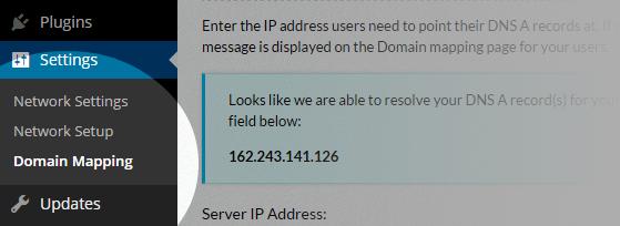 Domain Mapping - Menu
