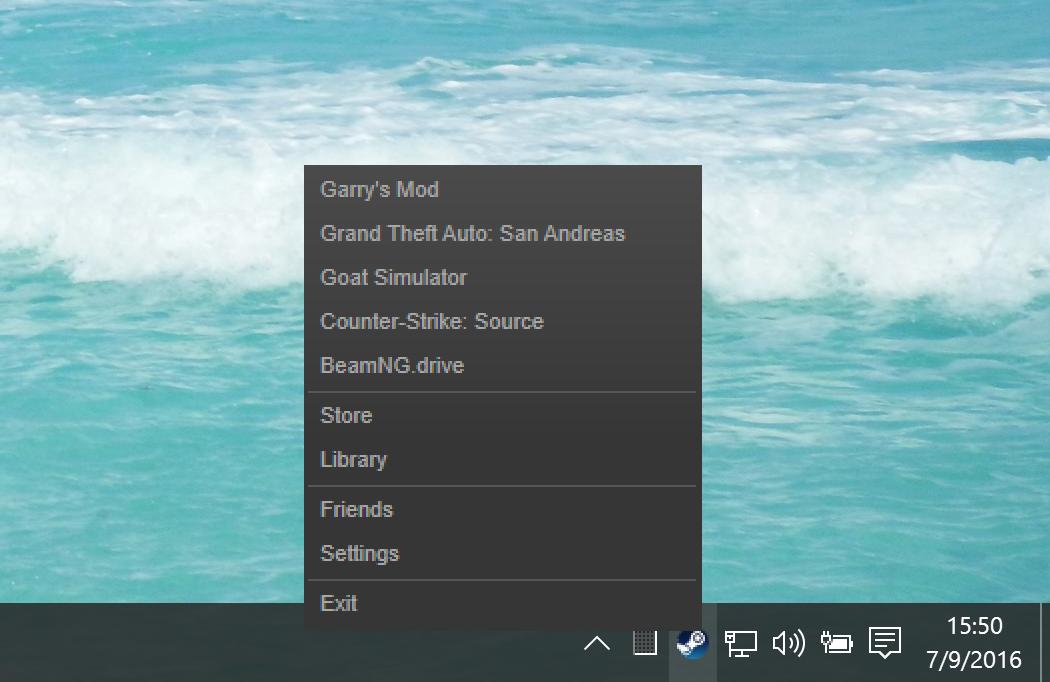 Steam on Windows