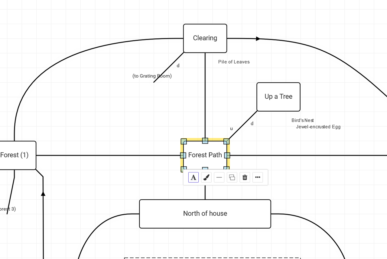 Drawing a map in Trizbort.io