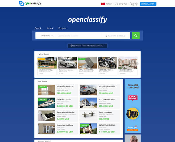 'Preview Homapage Openclassify'