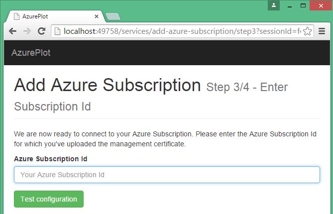 Enter subscription id