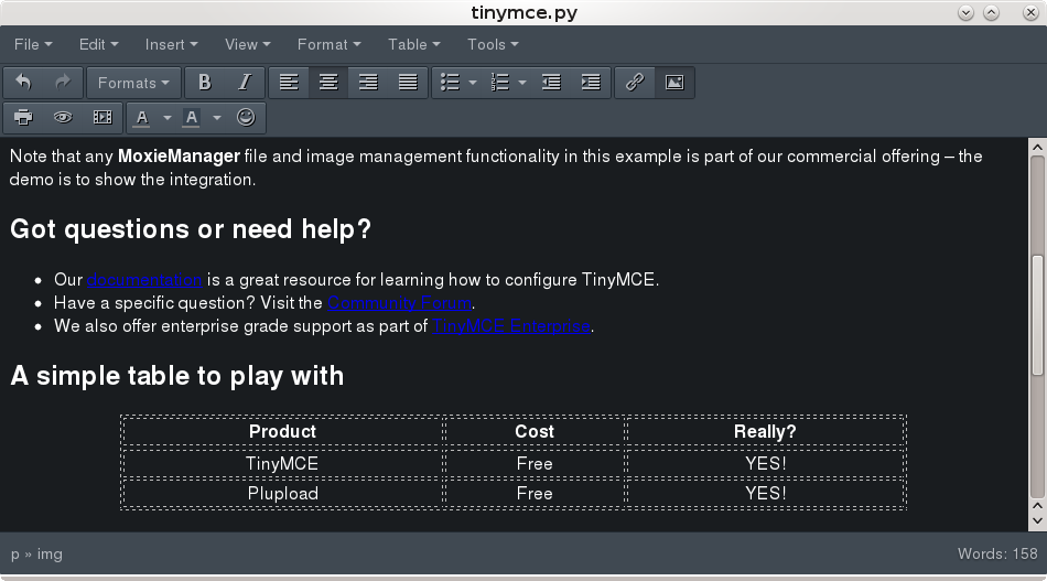 GitHub - oglops/tinymce-pyqt