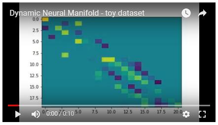 Dynamic Neural Manifold - toy dataset