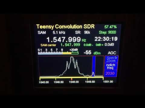 Teensy Convolution SDR video