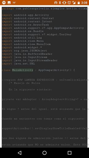 Vista del Código en la App
