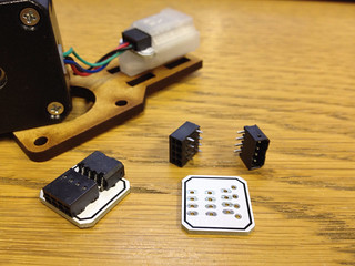 Motor breakout boards and connectors.