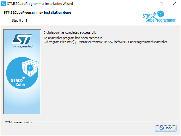 Install programmer step 8