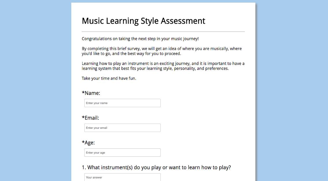 Music Learning Assessment