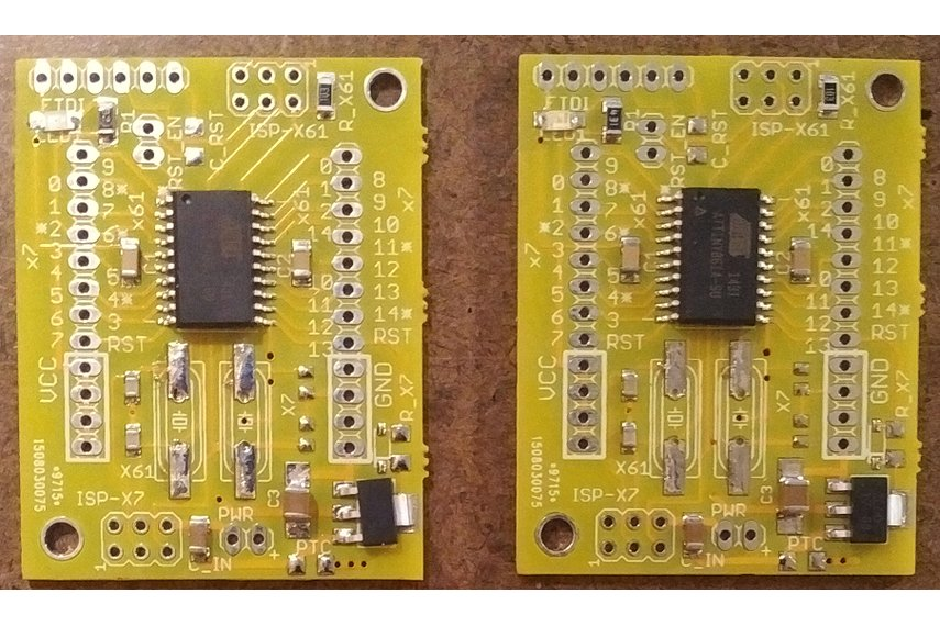 Picture of ATTiny861 boards