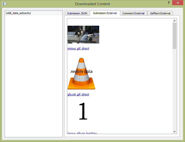 Downloaded content gui